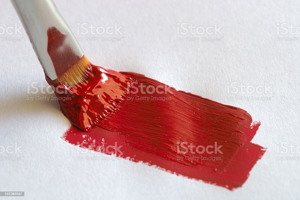 Painting Red 3 royalty-free stock photo