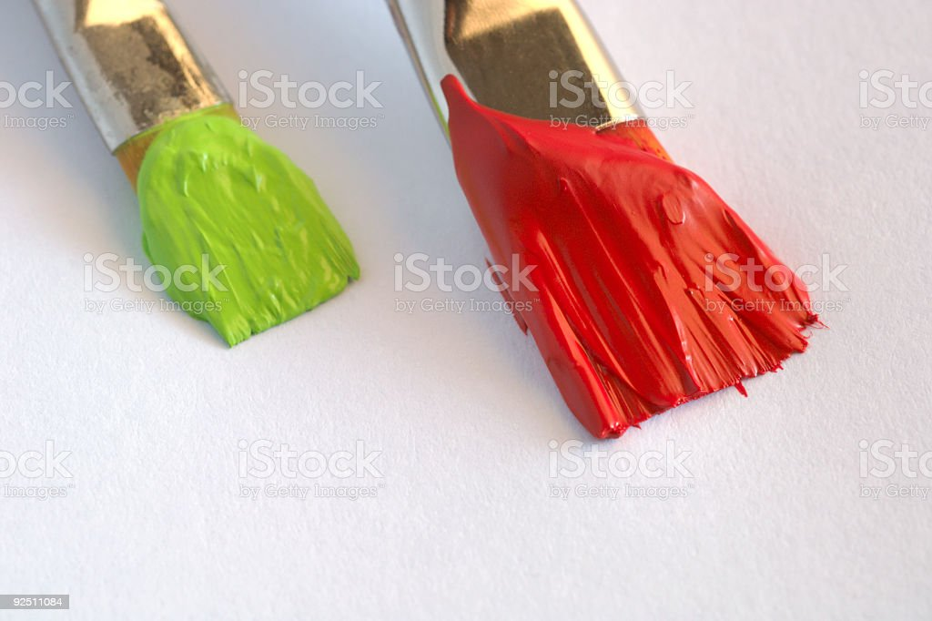 Painting Red and Green royalty-free stock photo