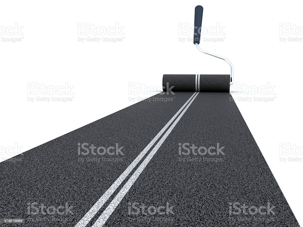 Painting road stock photo