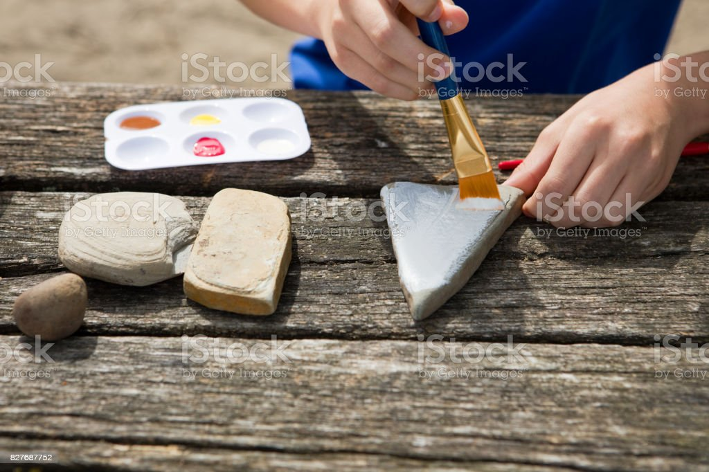Painting Rocks stock photo
