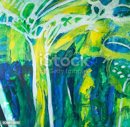 623963530istockphoto Painting Spirit Tree as a Background 606676590