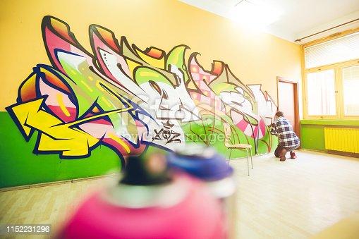 istock Painting street art graffiti 1152231296