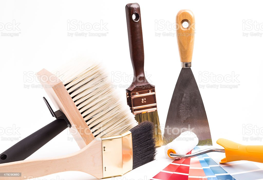 Painting supplies stock photo