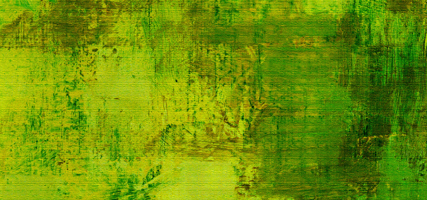 Green to yellow oil painting texture