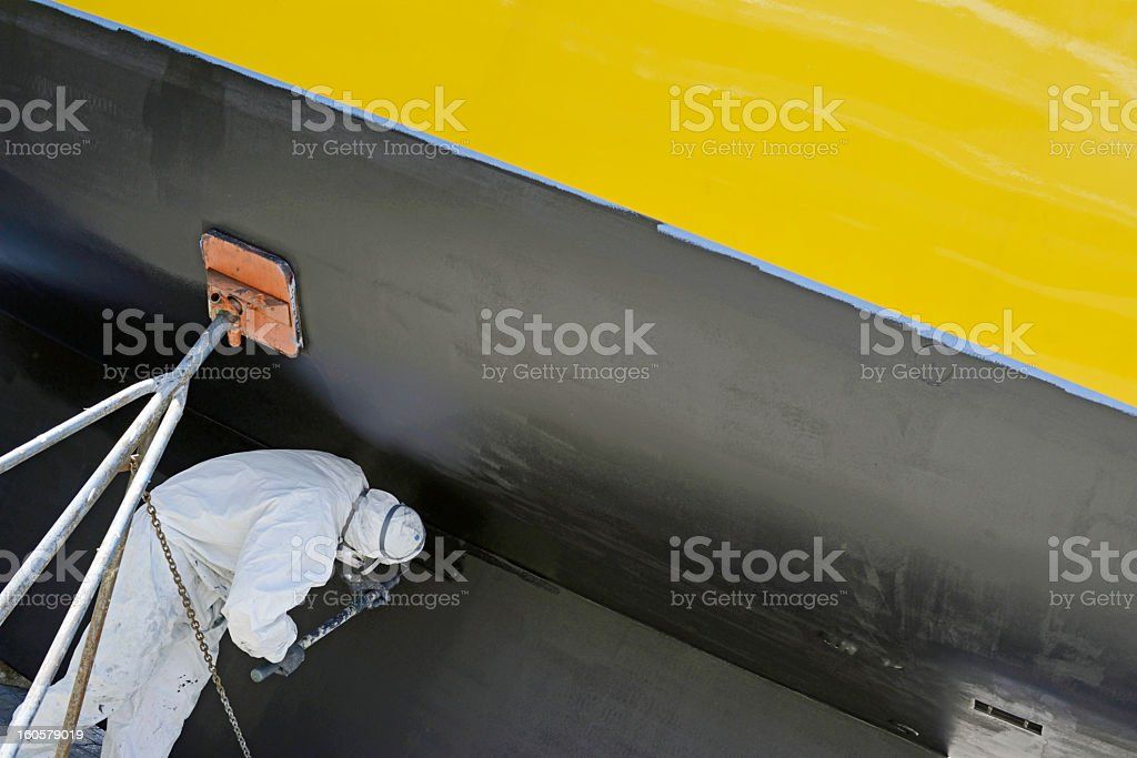 Painting The Boat stock photo
