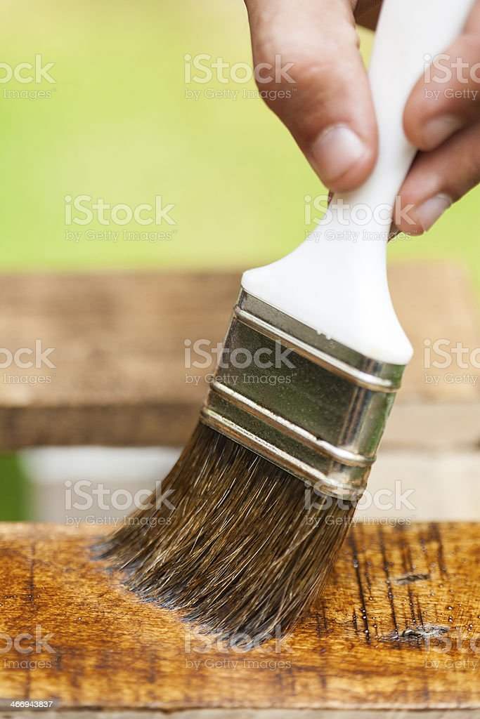 Painting the deck royalty-free stock photo