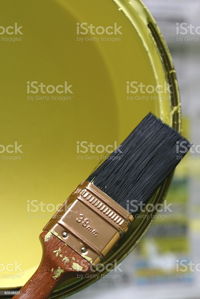 Painting the house royalty-free stock photo