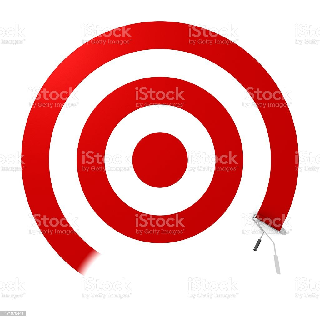 Painting the Target royalty-free stock photo