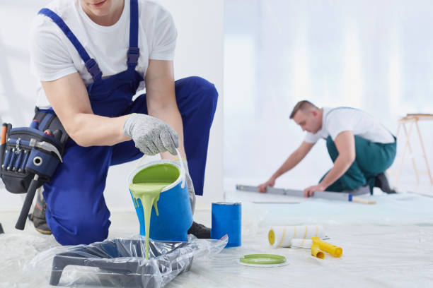 painting the walls - painter stock photos and pictures