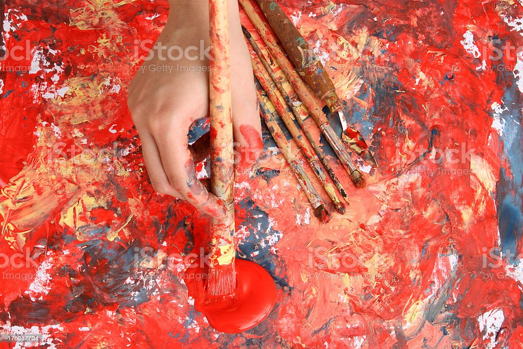 Painting time!! royalty-free stock photo