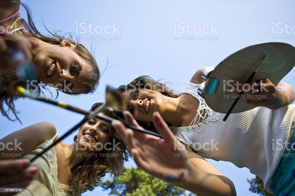 Painting Together royalty-free stock photo