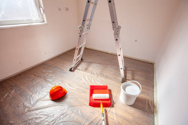 Painting Tools in an Empty Room stock photo