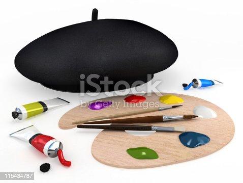istock Painting tools 115434787
