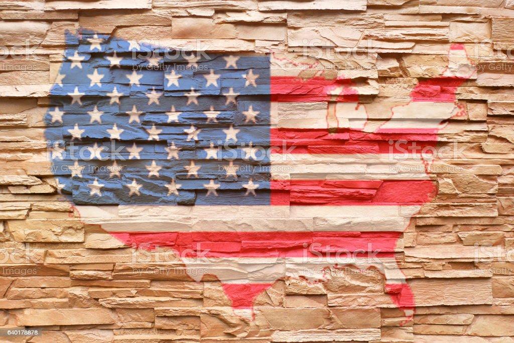 Painting USA Flag stock photo