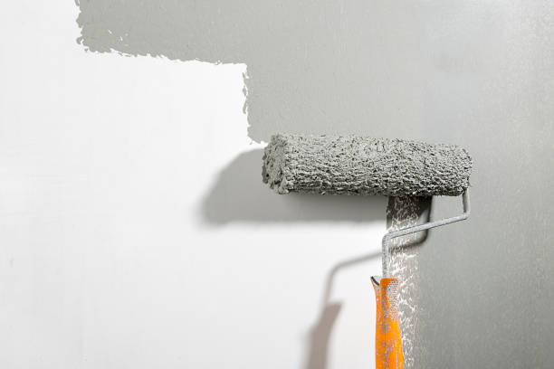 Painting Wall Close-up stock photo