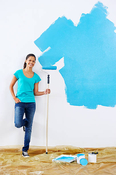 painting wall woman portrait