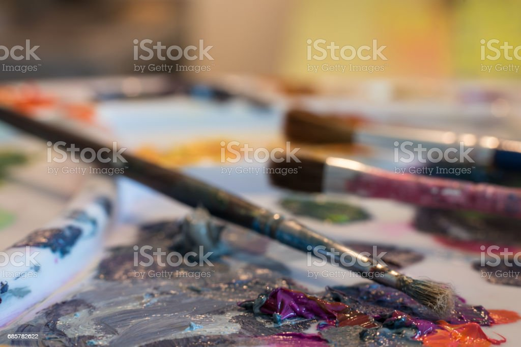Painting with oils royalty-free stock photo