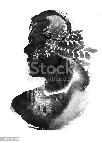 istock Paintography of Man and Nature Unified through the Elements 640294224