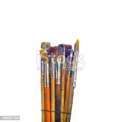 510006691 istock photo Paints and brushes 495007765