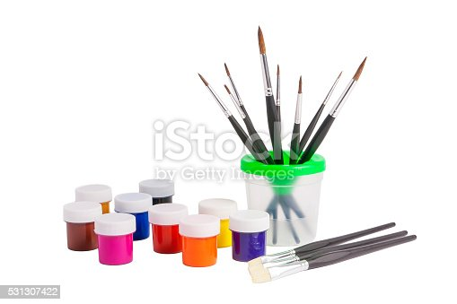 510006691 istock photo Paints and brushes. 531307422