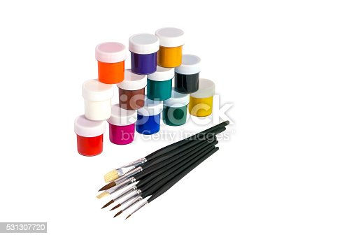 510006691 istock photo Paints and brushes. 531307720