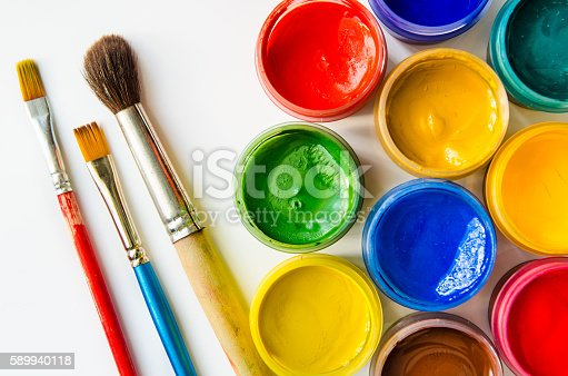 istock paints and brushes 589940118