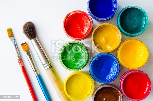 istock paints and brushes 589942256