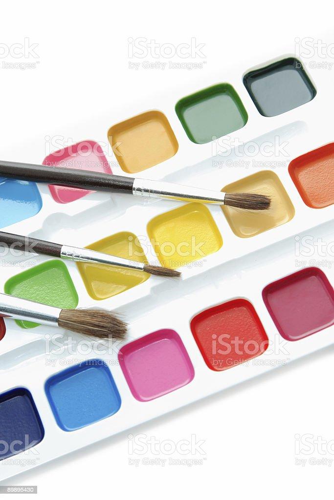 Краски и кисти Стоковые фото Стоковая фотография