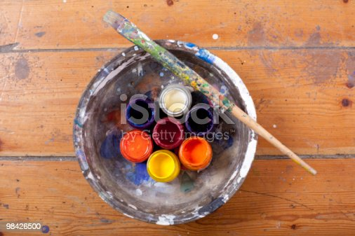 Paints And Paintbrush Stock Photo & More Pictures of Art