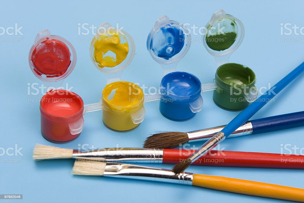 Paints & Brushes royalty-free stock photo