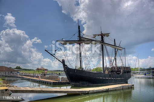 Replica of the pinta at dock.