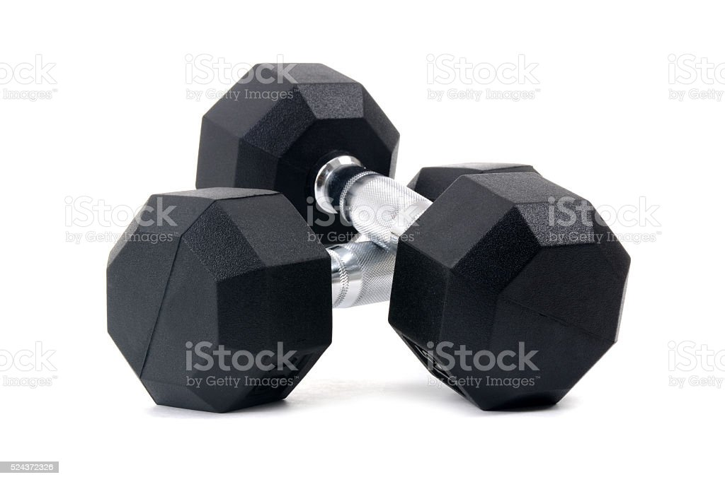 Pair Dumbbells stock photo