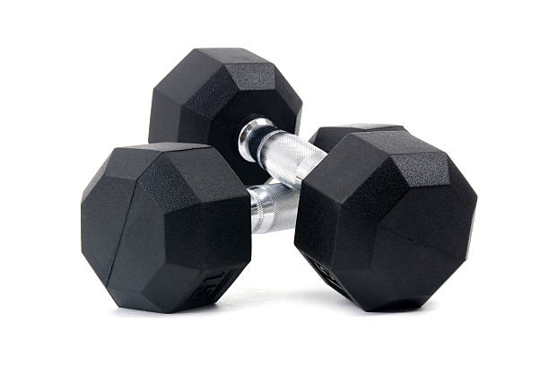 pair dumbbells - dumbbell stock pictures, royalty-free photos & images
