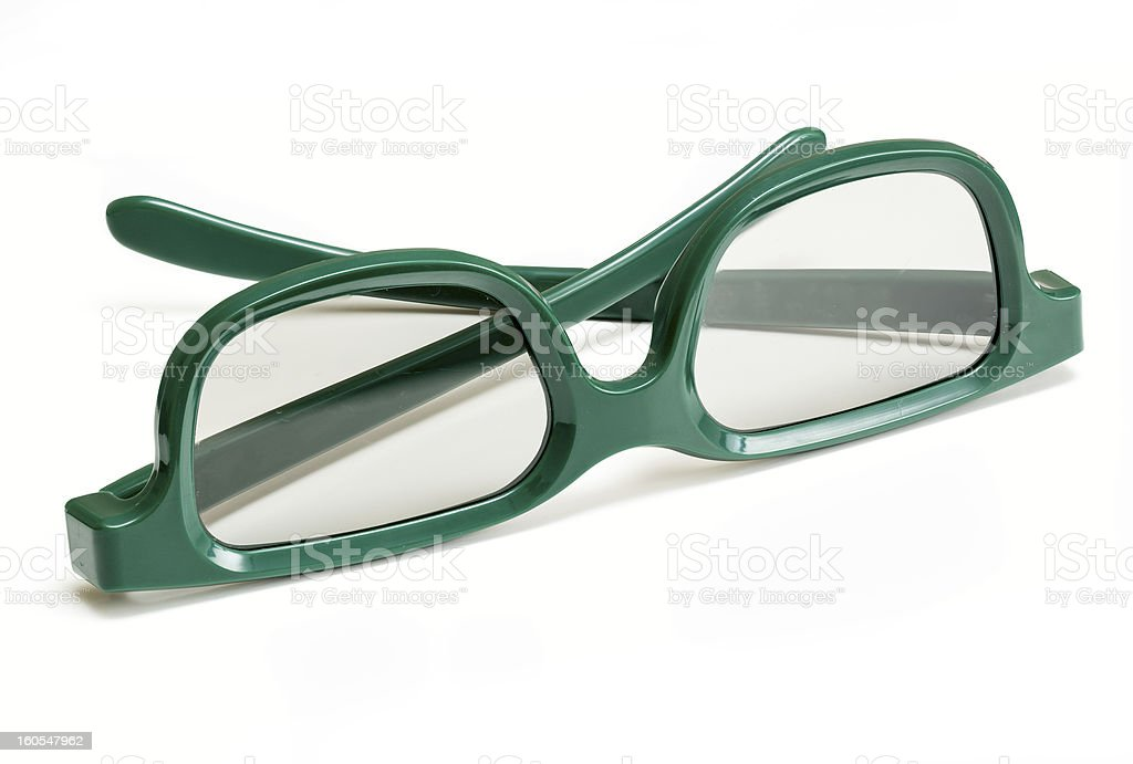 Pair of 3-d glasses for movies cinema royalty-free stock photo