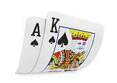 istock Pair of Ace and King Playing Cards Isolated 1173647040
