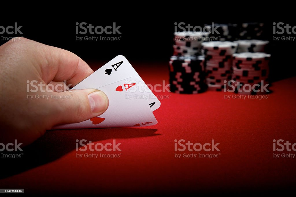 Pair of Aces... stock photo