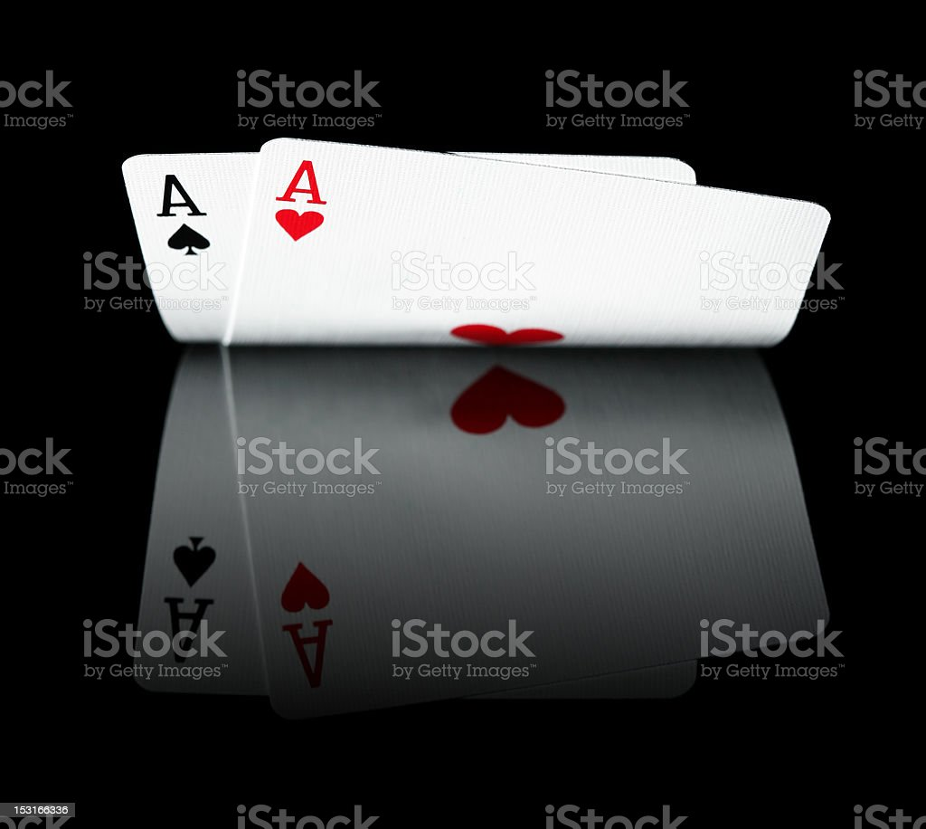 Pair of Aces royalty-free stock photo