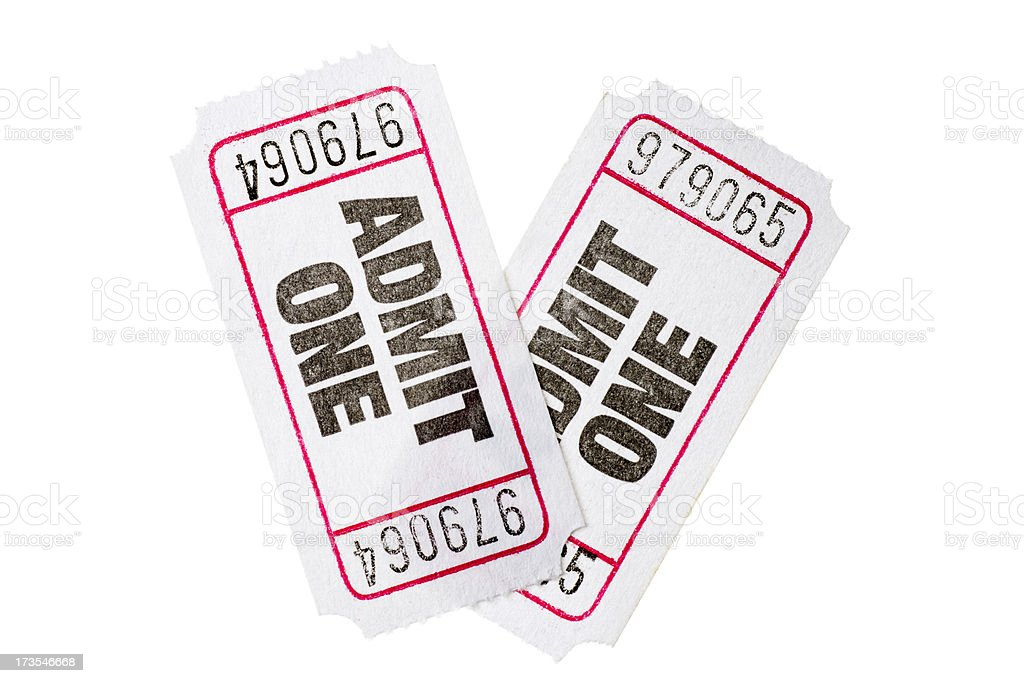 Pair of Admission Tickets royalty-free stock photo