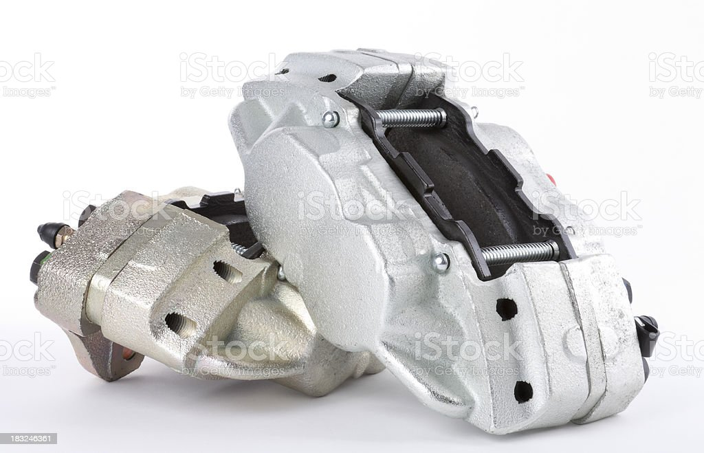 Pair of Automotive Brake Calipers stock photo