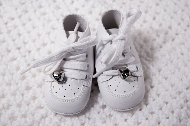Pair Of Baby Shoes 4 stock photo