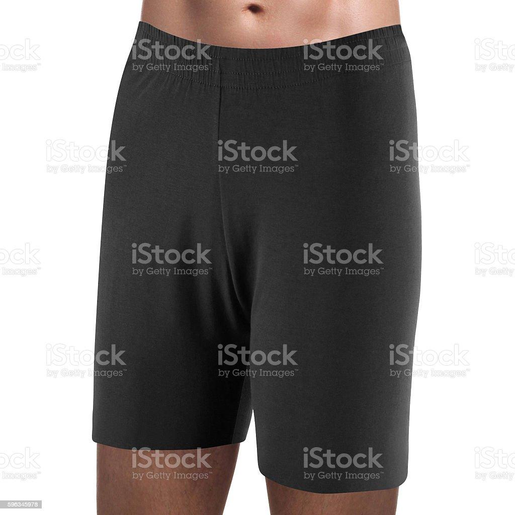 pair of black boxer shorts isolated on white royalty-free stock photo