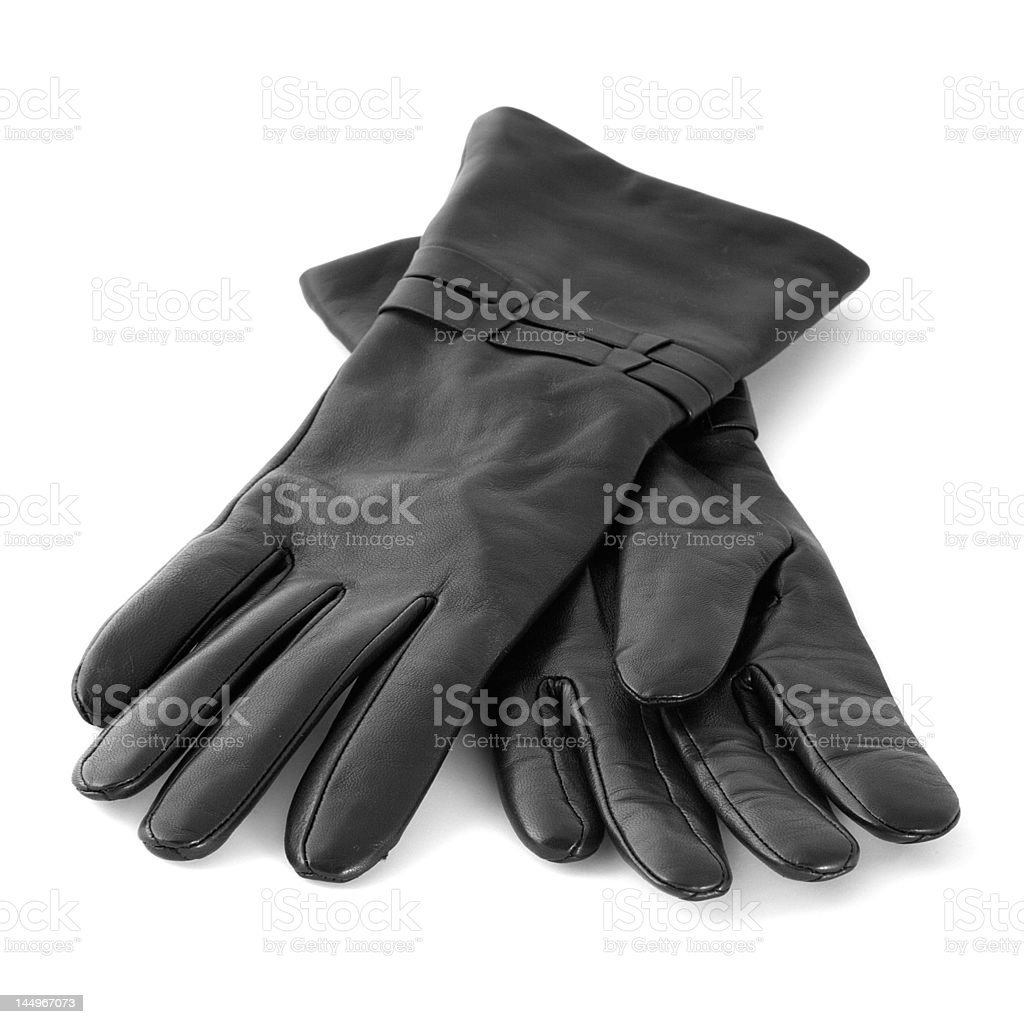 Pair of black gloves royalty-free stock photo