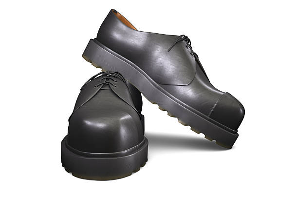 Pair of Black Shoes stock photo