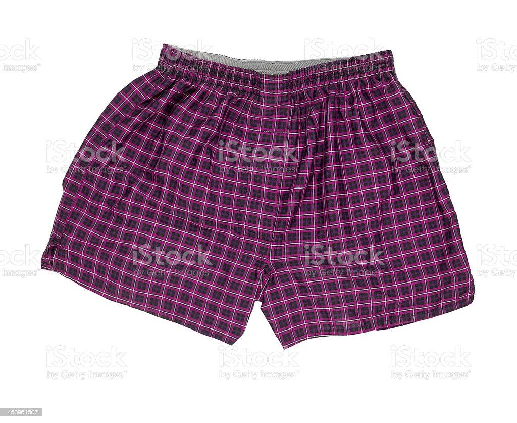 Par de boxer shorts isolado no fundo branco - foto de acervo