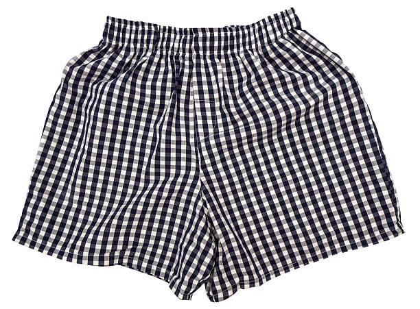 paire de shorts de boxe isolé sur fond blanc - homme slip photos et images de collection