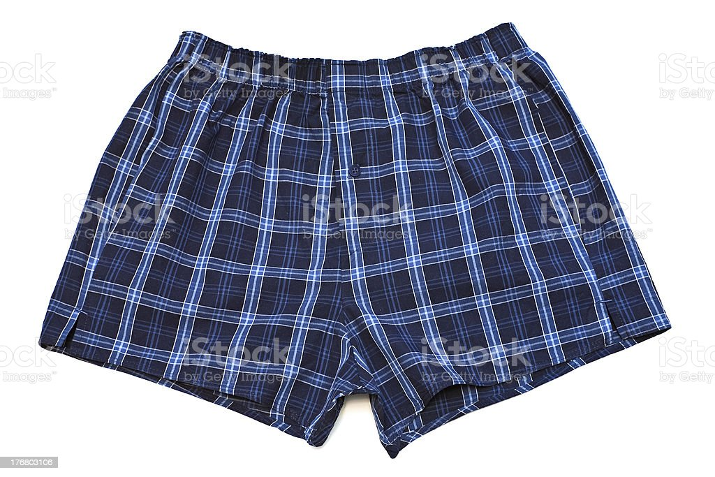 Pair of boxer shorts. stock photo