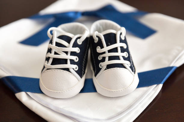 Pair of boy's shoes stock photo