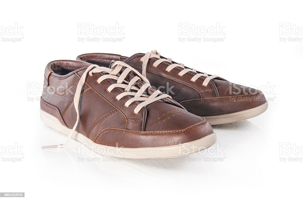 Pair of brown male shoes foto de stock royalty-free