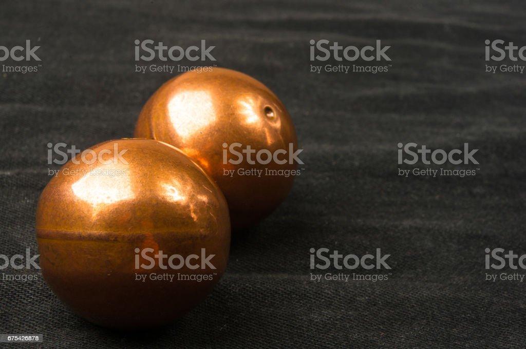 Bakır Çin topları Baoding çifti royalty-free stock photo