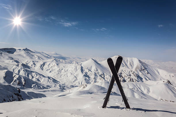 Pair of cross skis​​​ foto
